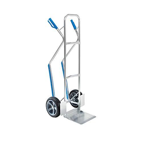 Aluminium-Sackkarre EASY - mit Gleitkufen und fester Schaufel - Tragfähigkeit 150 kg -