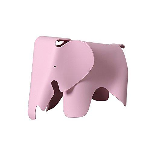 Dana Carrie Elefant Stuhl Kinderstuhl Kindergarten niedlichen Kunststoff Stuhl Baby Cartoon Elefanten Elefant Hocker, rosa
