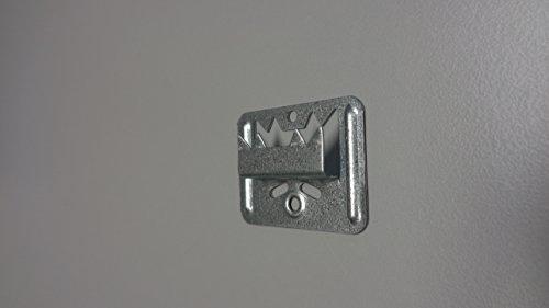 Fuchs Metalltechnik 2-101-005-0002-20 Profilholzkralle Nr. 5 extra stark Stahlband-verzinkt für Nut/Feder-Montage