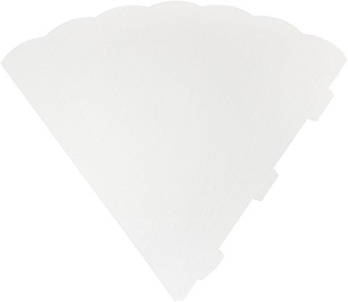 HEYDA 204870079 schu ltüten de découpe 3D hauteur 69 cm, carton ondulé 3D, 300 g/m² (Blanc)