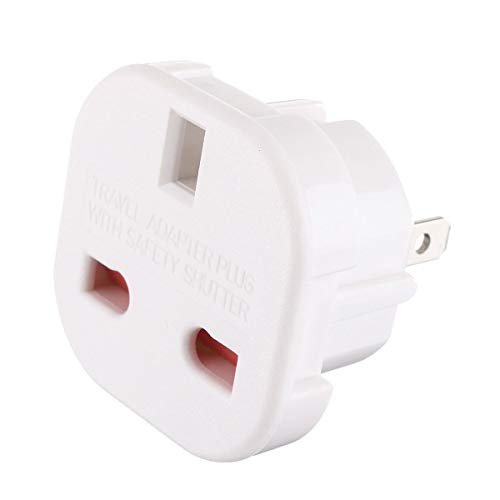 HappyL Productos eléctricos Adaptador de Enchufe de Viaje de 240V Reino Unido...