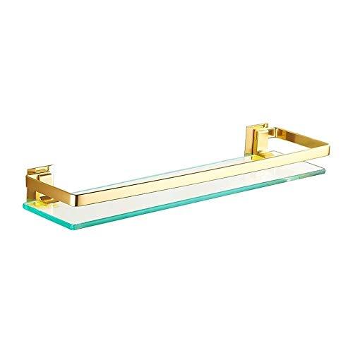 YLL Wand befestigte Handtuchwärmer Glasständer Stand Wäschetrockner Hang Küche Handtuchwärmer Doppel Rod Selbstklebende Badezimmer-Rack (Size : M)
