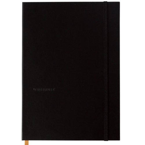 Whitelines Black Ocean A5 Lined/3D Notebook: Writing Papers for Creative Freedom