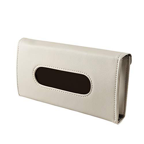 Walaka Porte-mouchoirs pour pare-soleil de voiture, en cuir PU, support de serviette de voiture, boîte à mouchoirs pour siège arrière, distributeur de mouchoirs de voiture (A)