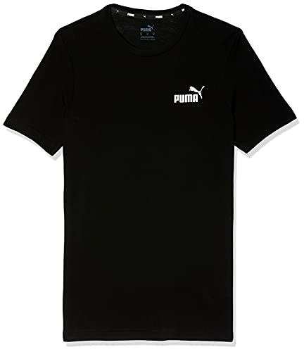 Puma Herren ESS S Logo Tee T-Shirt, Black, M