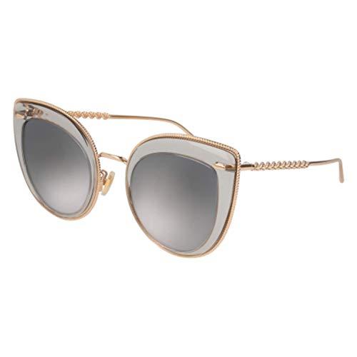 Boucheron BC0044S 001 51 Gafas de sol, Gris (001-Grey/Silver), Mujer