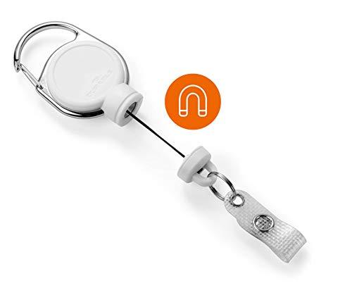 Durable 832902 Jojo für schwere Kartenhalter oder Schlüssel bis 300g, 1 Stück, weiß