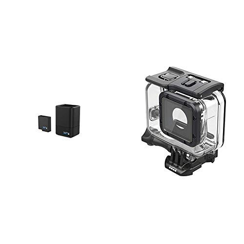 GoPro AADBD-001-ES - Cargador de batería Dual y batería, Color Negro + Super Suit (Protección Extrema y Carcasa de Buceo para HERO6 Black/HERO5 Black/Hero 2018)