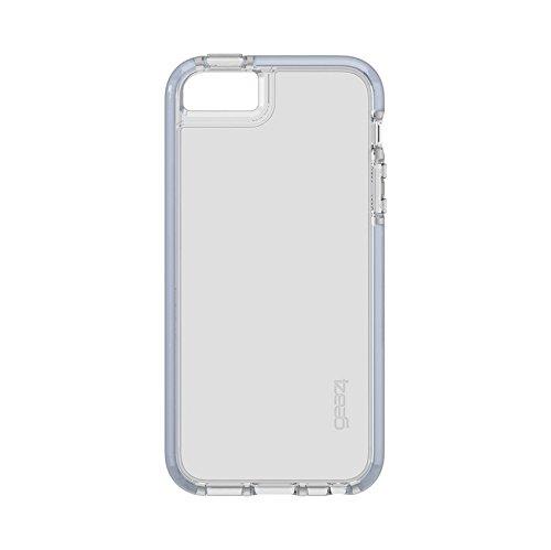 Gear4 Piccadilly Phone Case/Handyhülle Schutzhülle D30 Schutz kompatibel mit iPhone 5 5S SE - Silver/Silber
