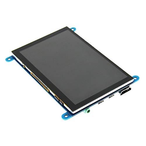 Ballylelly Monitor LCD de 5 Pulgadas Pantalla capacitiva HDMI 800X480 HD con Pantalla táctil para Raspberry Pi 4 Modelo B 3B + / 3B / 2B / B +