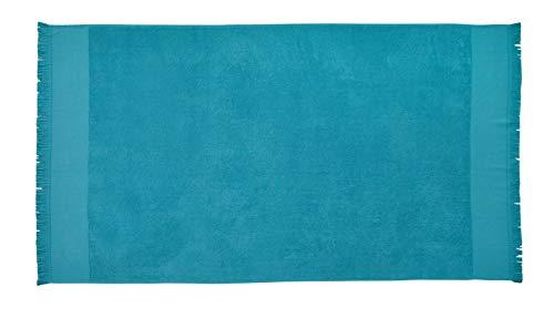 Blanc des Vosges Drap de piscine Diabolo Celadon 100 x 180 cm Eponge 100% Coton 320 gr