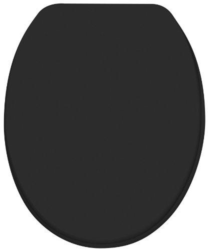 Diaqua 31170080 - Asiento para inodoro (tamaño: 42-47x37.2cm), color: negro