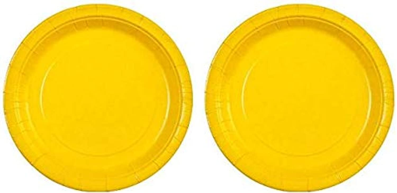 Party Dimensions Sunshine 9  Paper Plate, 20 Count, Yellow (2(Pack))