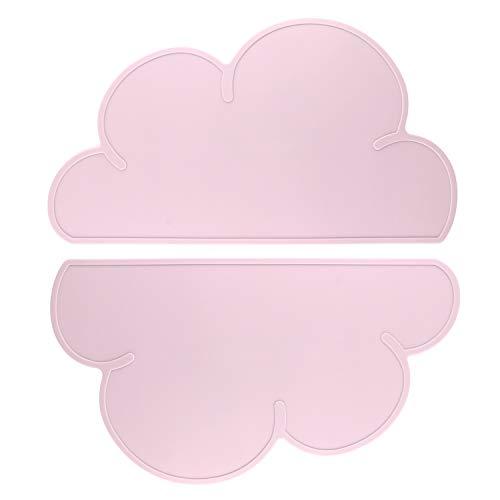 Tovagliette per bambini, ANSUG 2 PC baby silicone cloud tablemats, antiscivolo, resistente al calore, vassoio di alimentazione portatile per i più piccoli, bambini, neonato-grigio