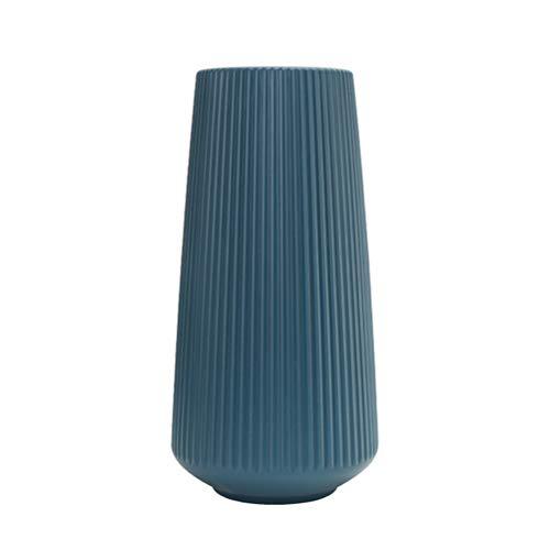 Blumenvasen, Geometrische dekorative Vase, Moderne Plastikvase im einfachen Stil für Wohnzimmer Plastikvase Blumenarrangement Desktop-Vase (11 x 15 x 30 cm)