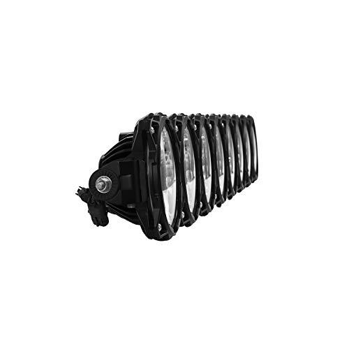 KC HiLiTES 91336 LED Light Bar, Gravity LED Pro6, Single Row, Combo Beam, 160 Watts, 50 in Long, White LED, Windshield Mount, Aluminum, Black, Jeep Wrangler JT 2018-20, Each
