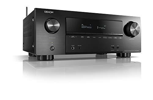Denon AVR-X2600H 7.2-Kanal AV-Receiver, Hifi Verstärker, Alexa Kompatibel, 8 HDMI Eingänge und 2 Ausgänge, Bluetooth und WLAN, Musikstreaming, Dolby Atmos, ohne DAB, AirPlay 2, HEOS Multiroom