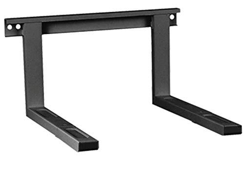 Mikrowellenhalterung Mikrowellen Halter Wandhalterung schwarz bis 35 kg ausziehbar 38,5 x 51 cm inkl. Montagematerial Grillofen Mikrowellenhalter Regal Wand