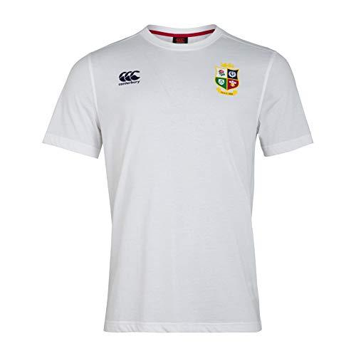 Canterbury British and Irish Lions Cotton Jersey Camiseta, Hombre, Blanco Brillante, M