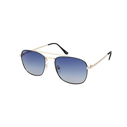 Polar zonnebril JOSE 20/Q goud zwart/blauwe lens gepolariseerd