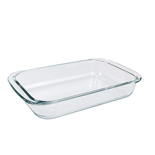 Roaster Baking Glass Dish Glass Rectangular Casserole Dishes, Clear Baking Roasting,1 Piece (2L)