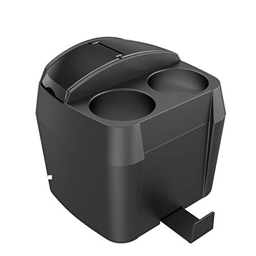 Auto et Moto/Accessoires auto/Arrimage et rang Boîte de rangement multifonctions avec porte-gobelets (Color : Black-20.8cm*18.2cm*20.1cm)