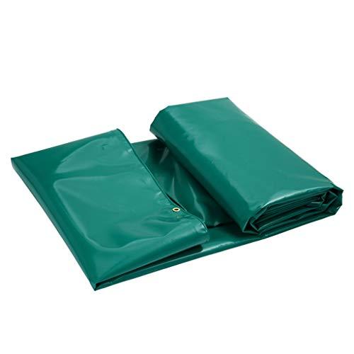 Bâches de protection Pluie auvent Tissu imperméable à l'eau épaississement PVC crème Solaire Protection Contre la Pluie bâche à Vent Trois bâche Anti-Tissu (Color : Green, Size : 4 * 3m)