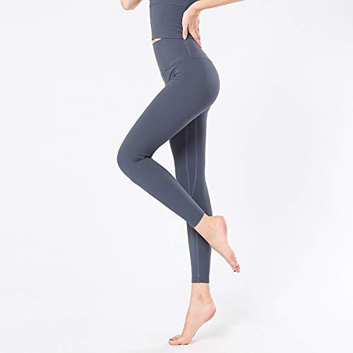 XIAMIMI Frauen-Sport-Klage weiblich Yoga Set Anzug Fitness Sexy Ensemble Sport Workout Fitnessbekleidung Laufen Kleidung Pad Top Gamaschen,A,XL