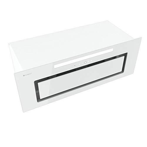 Loteo 80.4 Plus - Campana extractora empotrada, armario de cocina, de acero, color blanco