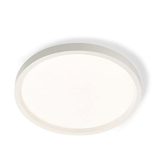 "Philips 303107 SlimSurface Round LED 3000K Surface Mount Downlight, 7"", White"