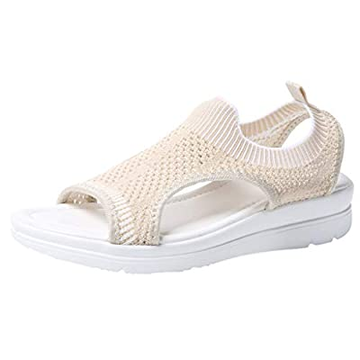 JUSTWIN Simple Soft Bottom Flying Woven Mesh Women's Platform Thick Summer Flip Flop Shoes Flock Sandals