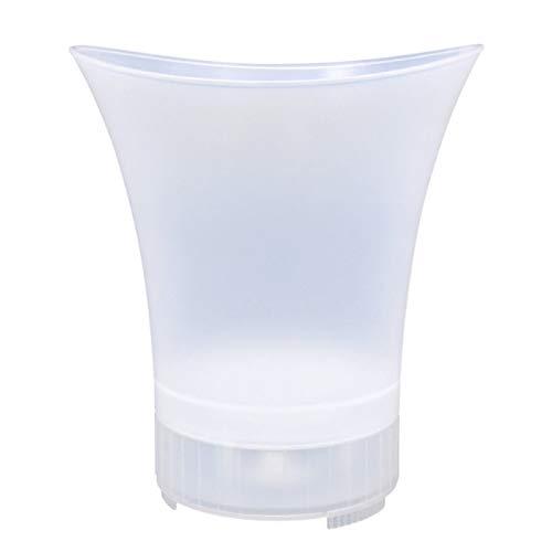 MUBAY Cubiteras Ice Bucket para Interior y Exterior Cubo de Hielo 5L con Altavoz LED y Altavoz Bluetooth, Capacitación de Gran Capacidad/envases de Bebidas para Fiesta, hogar, Bar (Color : White)