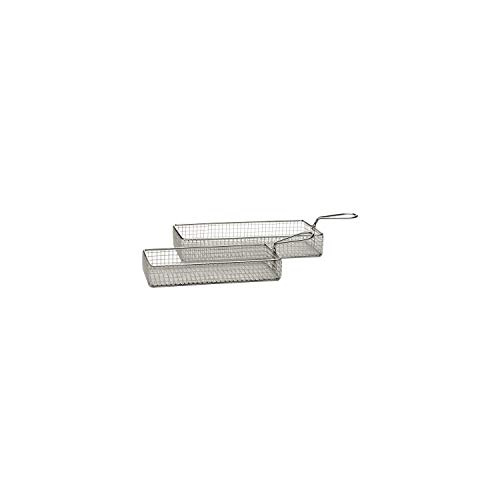 stainless steel fry baskets 26 x 13 cm, H: 4,5 cm