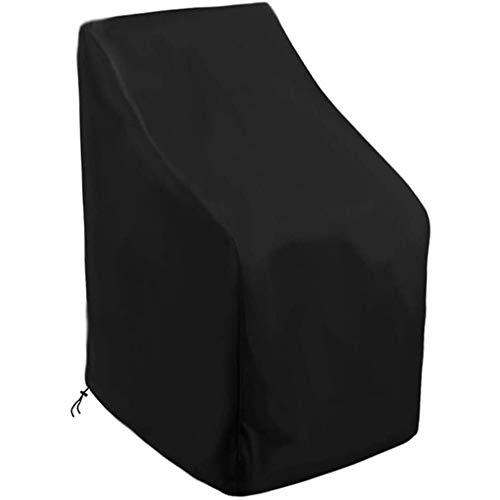 JQDZX Fundas Sillas de Apilables Jardín, 210D Oxford Cubierta Protectora Impermeable, Resistente al Viento, Anti-UV Polvo/Hojas, Para Patio Terraza, protector de muebles al aire libre (89x89x120/89cm)