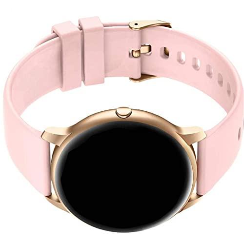 MaylFre Inteligente Mujeres del Reloj SmartWatch Ronda de Fitness Inteligente de la Banda de frecuencia cardíaca Detectar Reloj Digital con Reloj Personalizado Caras de la Mujer Rosa Elegante Reloj