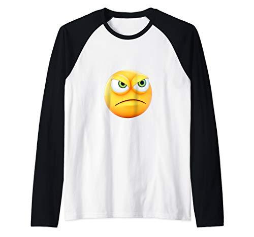 lustige wütende Augen Emoji Emojis erstaunliches Geschenk Raglan