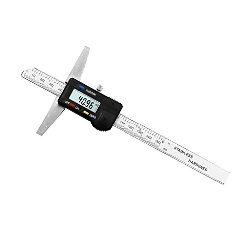 Homyl Medidor de Calibre Vernier Digital Medidor Micrómetro Profundidad Herramienta de 150mm