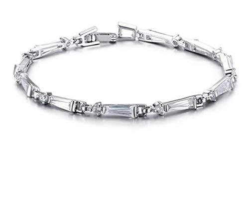 AmDxD Damen-Armband Edelstahl 17 x 0,3 cm