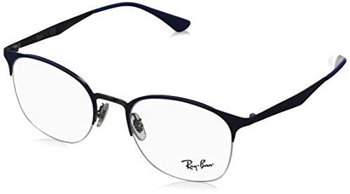 Ray-Ban Damen 0RX6422 Brillengestelle, Blau (Gunmetal On Top Matte Blue), 49