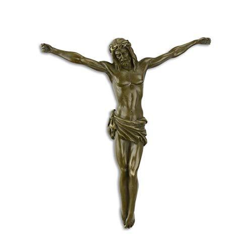 Decoratie Bronzefigur Skulptur Wanddeko Jesus Christus 22,1 x 18,8 cm