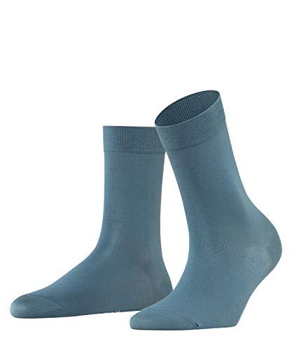 FALKE Damen Socken Cotton Touch - Baumwollmischung, 1 Paar, Grau (Steel Grey 3583), Größe: 35-38