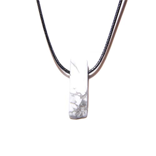 YZRDY Collares Piedra Natural Slice Point Beads Collar Lazuli Turquesa Beads Collares para Mujeres Hombres Joyería Party (Metal Color : Howlite)
