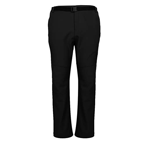 冬の寒さのためのメンズハイキングパンツ、通気性のある屋外スノースキーパンツ(black, XXL)
