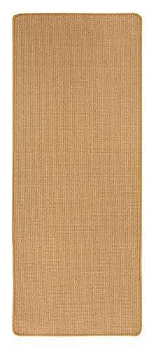 misento Sisal Teppich aus 100% Naturfaser Flachgewebe Webteppich uni,80 x 250 cm