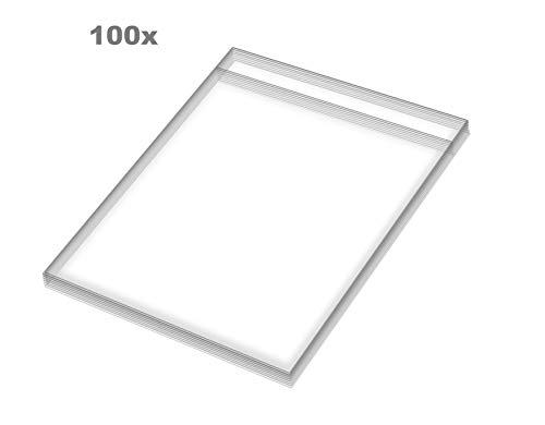 Supremery 100x platenhoezen transparant - 32,5x32,5cm - voor 12