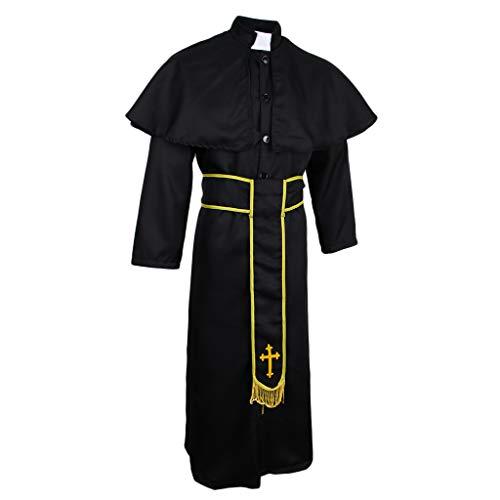perfeclan Sacerdote de Halloween Cosplay Outfit Mujeres Hombres Cabo Abrigo Disfraz Religioso - SG