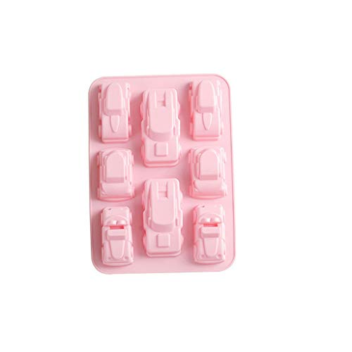 BEECM Mould Safe Silicone Shape Cake Easy to Clean Cookie Chocolate Mould Classic Cars 3D Mold Baking Tray