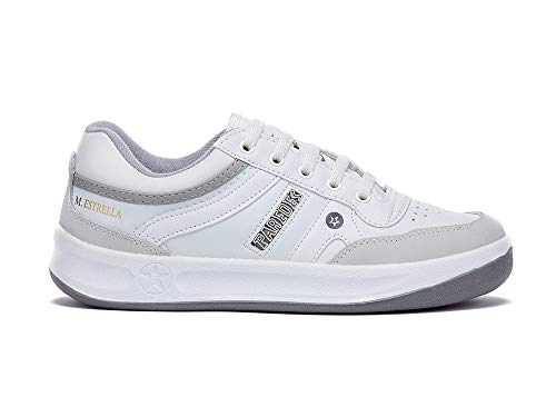 Zapatilla Soft Blanco Paredes Estrella - Cordones - Talla 45