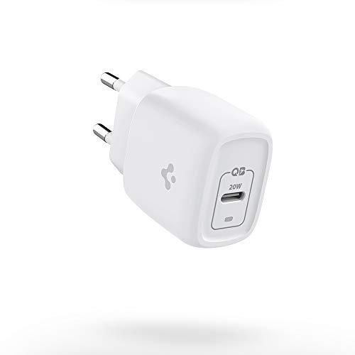 Spigen Caricabatteria Super Mini 20W GaN PD USB C Power Delivery Caricatore di Alimentazione Compatibile con iPhone 12 Pro Max Mini SE 11 X XS XR 8 Plus iPad Pro Air 4 AirPods Max Pro