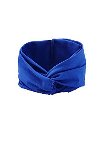 Demarkt Accessoires Cheveux pour la Tête Bandeaux Textile pour Femmes - Couleur Bleu Foncé